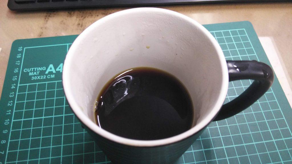 1杯のコーヒー完成
